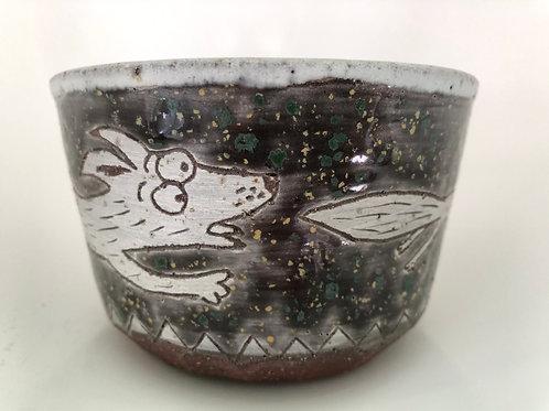 Chasing My Squirrel. A bowl.