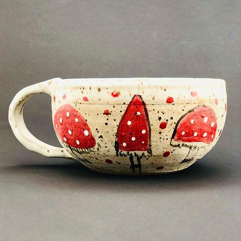 Mushroom cappuccino mug
