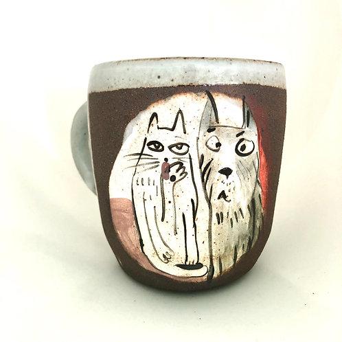 Cat and Dog mug