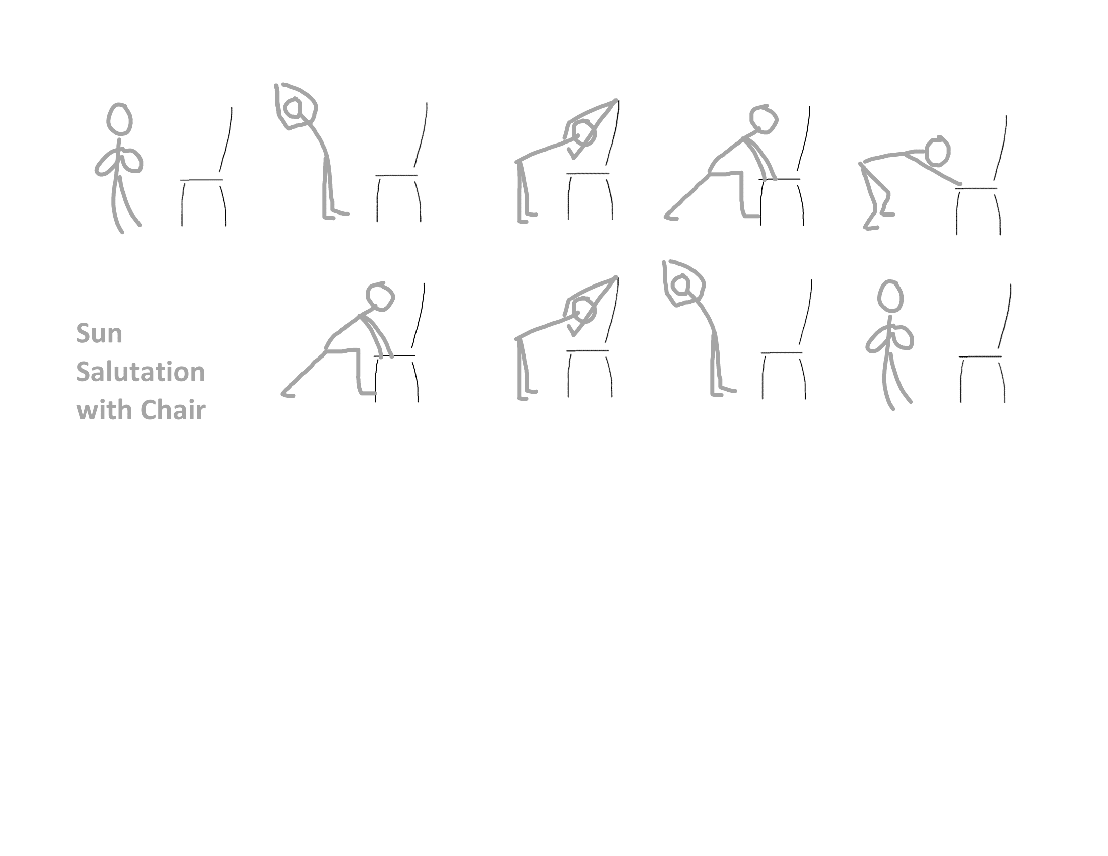 Sun Salutation With A Chair