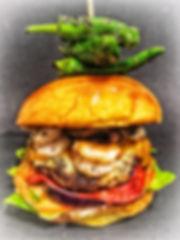 Chilled Garnelen Burger (Surf'n'Turf Burger)