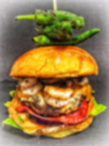 Chilled Garnelen Burger (Surf'n'Turf Burger)
