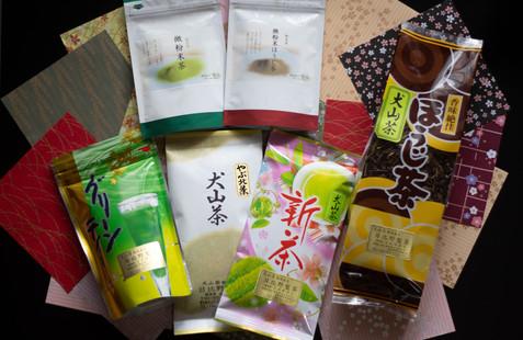 様々な犬山茶製品