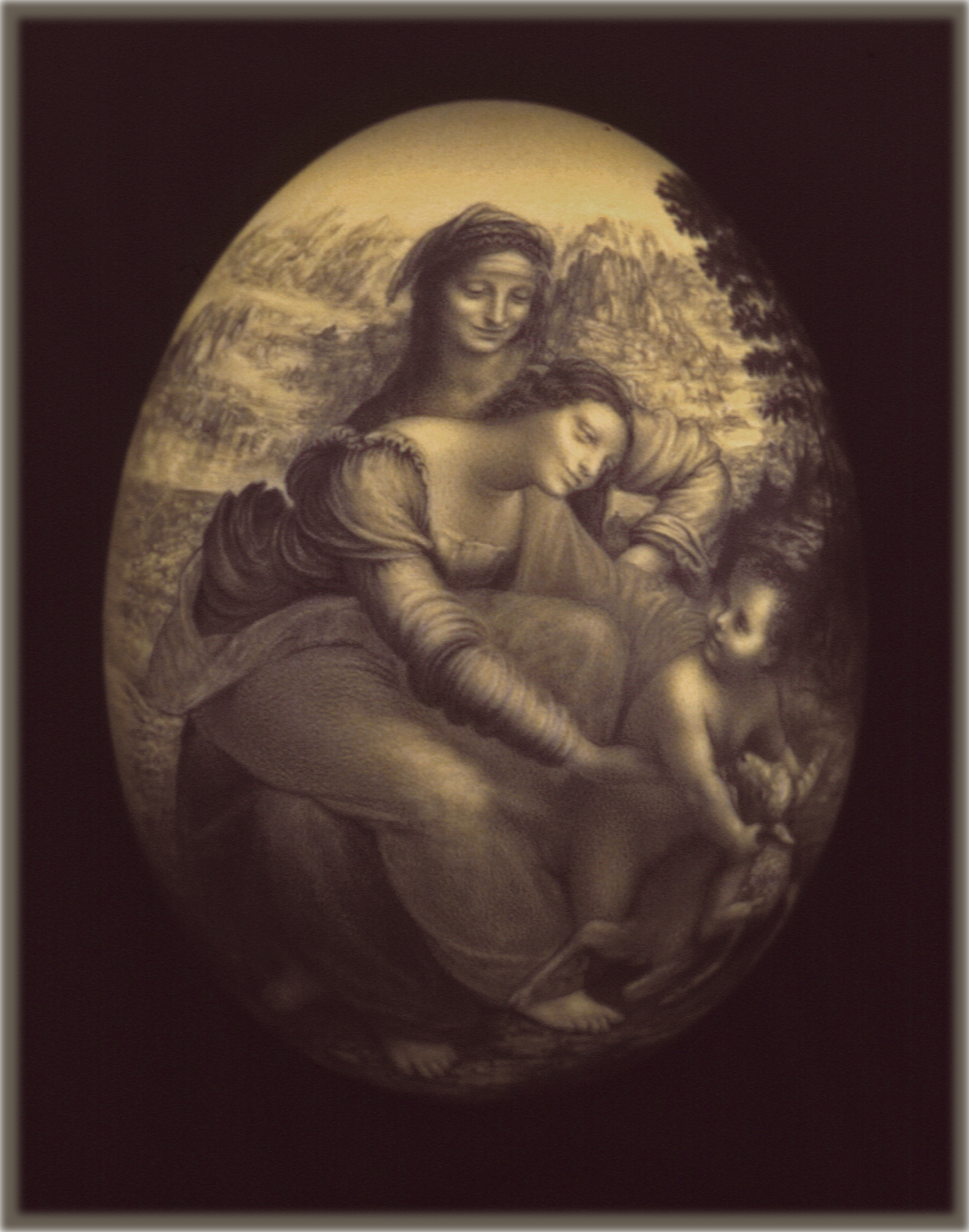 da Vinci's Virgin w/ St. Anne &Child