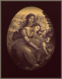 da Vinci's Virgin w/ St. Anne &Child