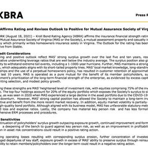 KBRA Affirms Mutual Assurance Society