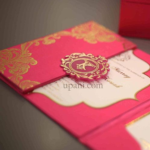 Pink Foil Invitation (Set of 50)