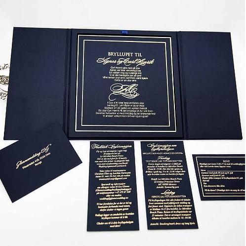 Royal blue Invitation(Set of 50)