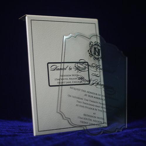 Clear Acrylic Invitation (Sample)