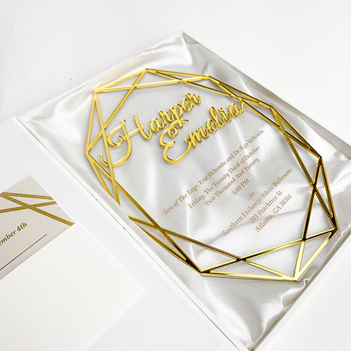Clear Acrylic Invitation (Set of 50)