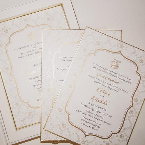 Lotus Wedding Invitation (Set of 50)