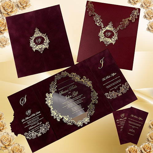 Red Velvet Wedding Invitation (Sample)
