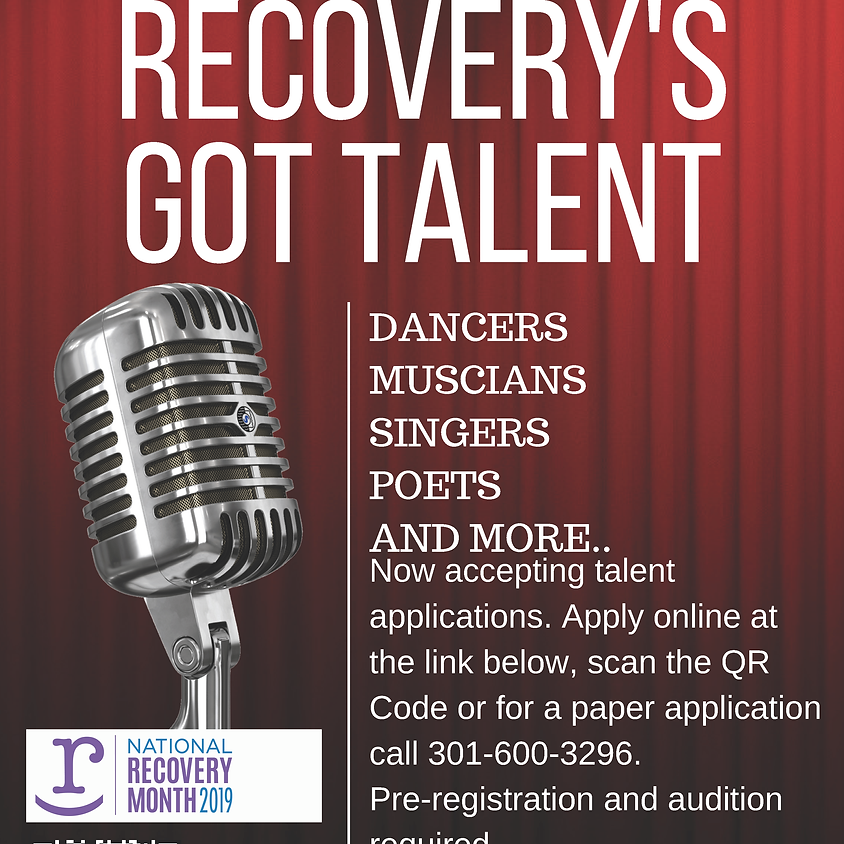 Recovery's Got Talent - Presented by The Frederick County Health Department