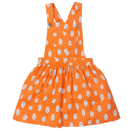 KITE Little Cub Fox Pinafore Dress