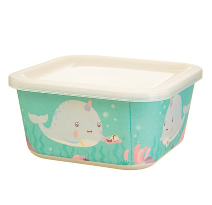 Alma Narwhal Bamboo Lunch Box