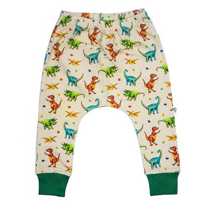 JECO 'Happy Dino' Cream Harem Pant