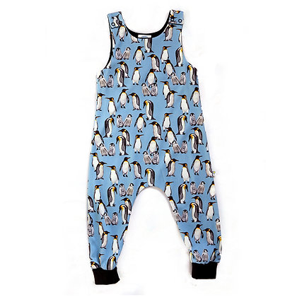 JECO 'Playful Penguins' Blue Dungaree's
