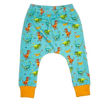 JECO 'Happy Dino' Turquoise Harem Pant