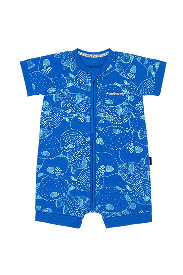 Puffer Fish Party Blue Grotto Wondersuit Romper