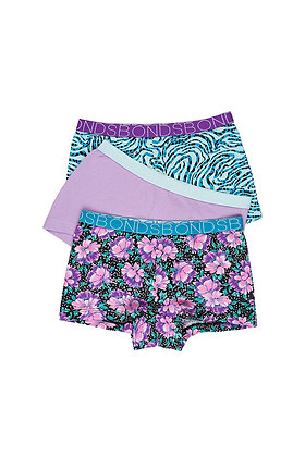 BONDS Cosmic Floral 3 Pack Shortie