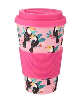 Tiki Toucan Bamboo Coffee Cup