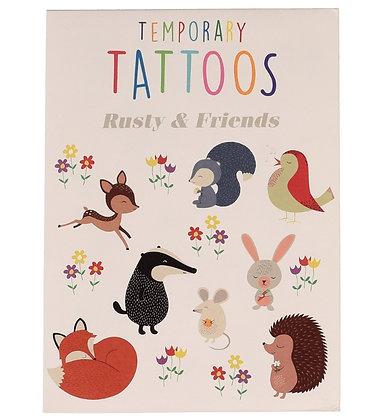 Rusty & Friends Fun Temporary Tattoo's