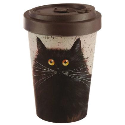 Kim Haskins Black Cat Bamboo Travel Mug