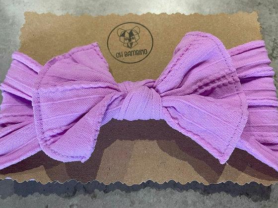 Stretchy Baby Bow Headband - Candy Floss