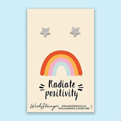 Radiate Positivity - Silver Star Stud Earrings