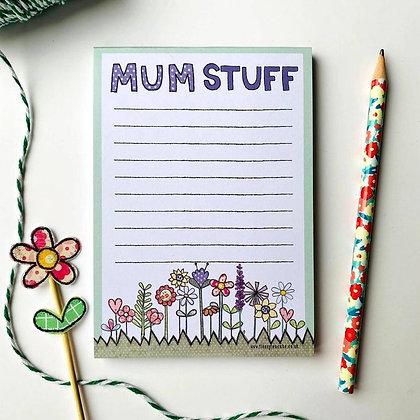 Mum Stuff A6 Notepade