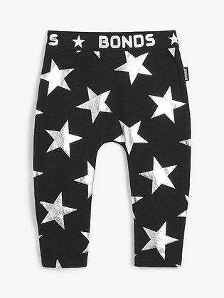 LAST ONE 0-3m BONDS Starstruck Black Stretchies