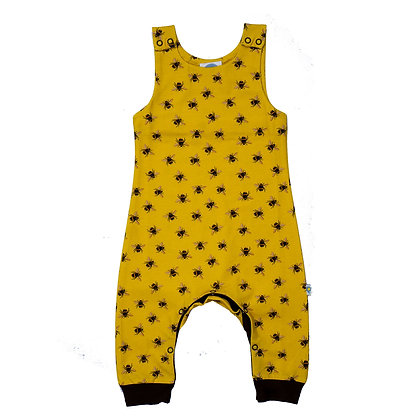 JECO 'Buzzing About Bees' Mustard Dungaree's