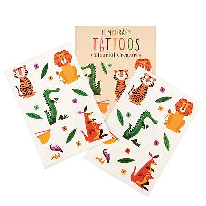 Colourful Creatures Fun Temporary Tattoo's