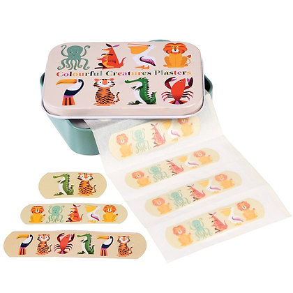 Colourful Creatures Plasters In A Tin (pack Of 30)
