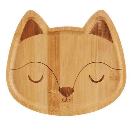 Woodland Fox Friends Bamboo Plate and 3 Piece Spoon Set