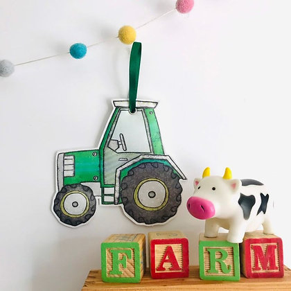 Yorkshire Tractor Fabric Hanging Decoration