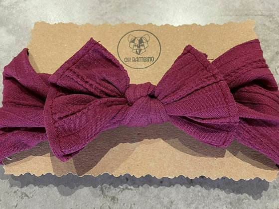 Stretchy Baby Bow Headband - Sugar Plum