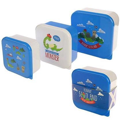 Bonnie Scotland Nessie 3 Pack Lunch Box's