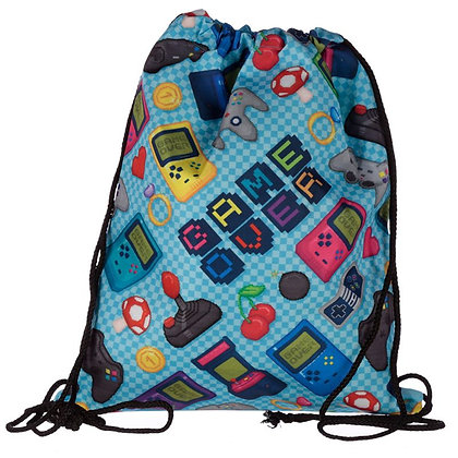 Game Over PE Swimming Drawstring Bag