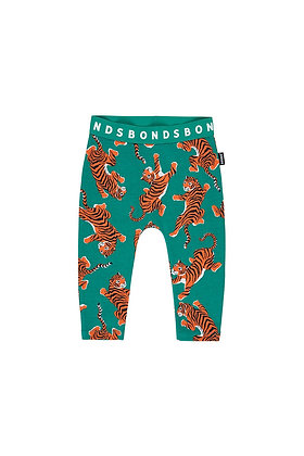 LAST ONE BONDS Size 6-12m Climbing Tigers Green Stretchies