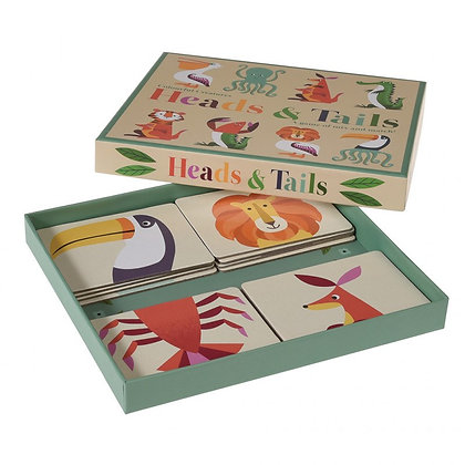 REX London Colourful Creatures Heads And Tails Game