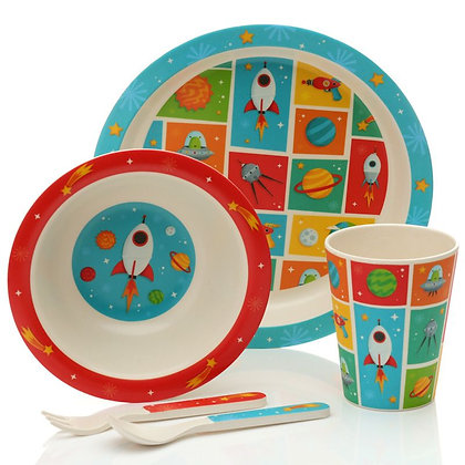 Space Cadet Bamboo Composite Tableware Set