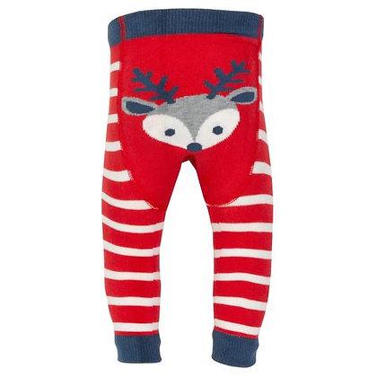 LAST ONE 0-6m KITE Christmas Reindeer Knit Leggings