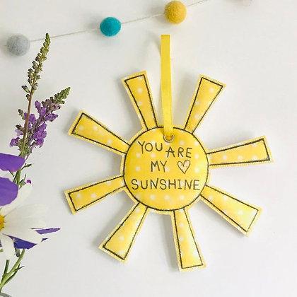 You Are My Sunshine Fabric Hanging Decoration