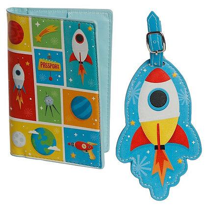 Space Cadet Passport Holder & Luggage Tag Set