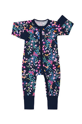 NEW Blossoming Butterflies Navy Wondersuit