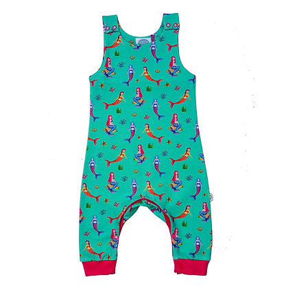 JECO 'Mystical Mermaids' Turquoise Dungaree's