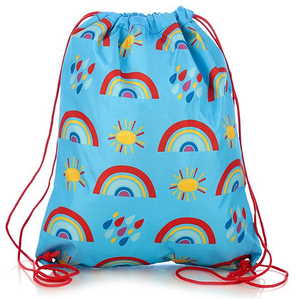 Rainbow PE Sports Swimming Drawstring Bag