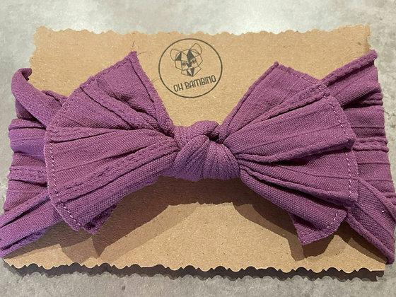 Stretchy Baby Bow Headband - Mauve