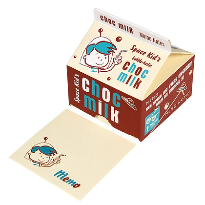 """Memo Pads In """"Space Kids Milk"""" Carton"""